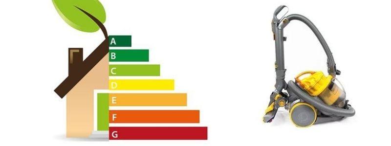 L'étiquette énergétique de l'aspirateur